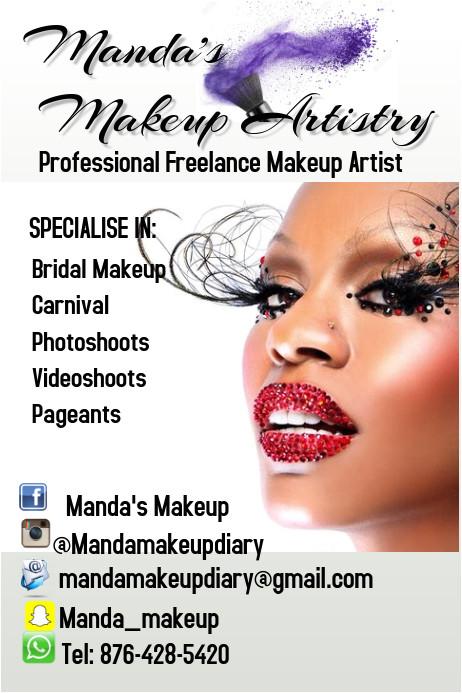 makeup poster template