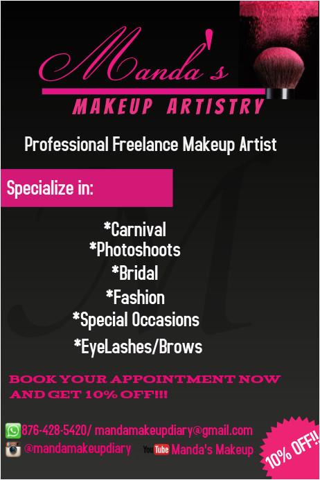 makeup flyer template
