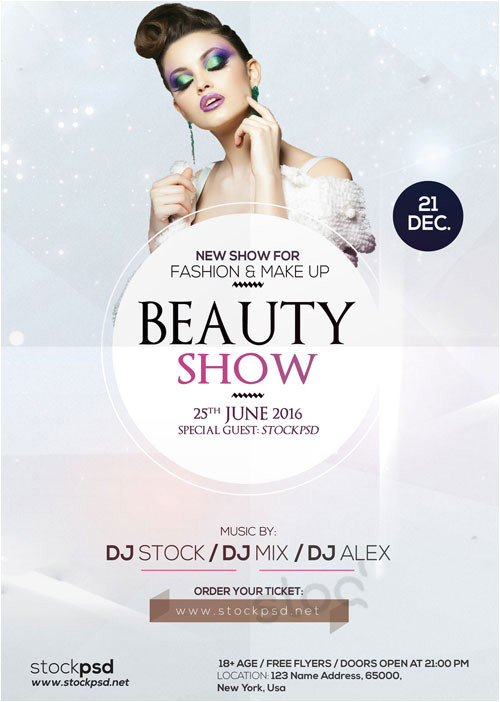 beauty show free flyer template