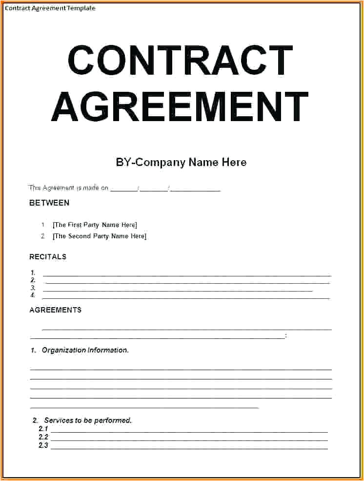 Making A Contract Template 9 Contract Agreement Letter Examples Pdf Examples