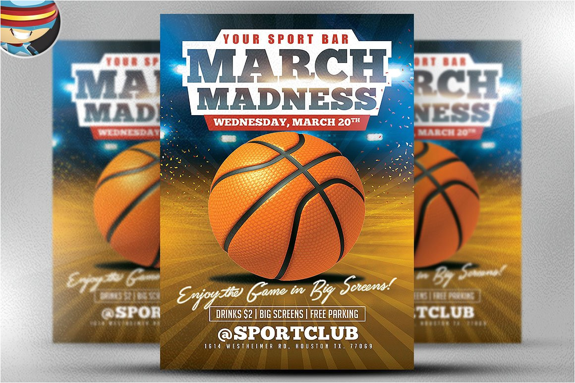 553487 march madness basketball flyer