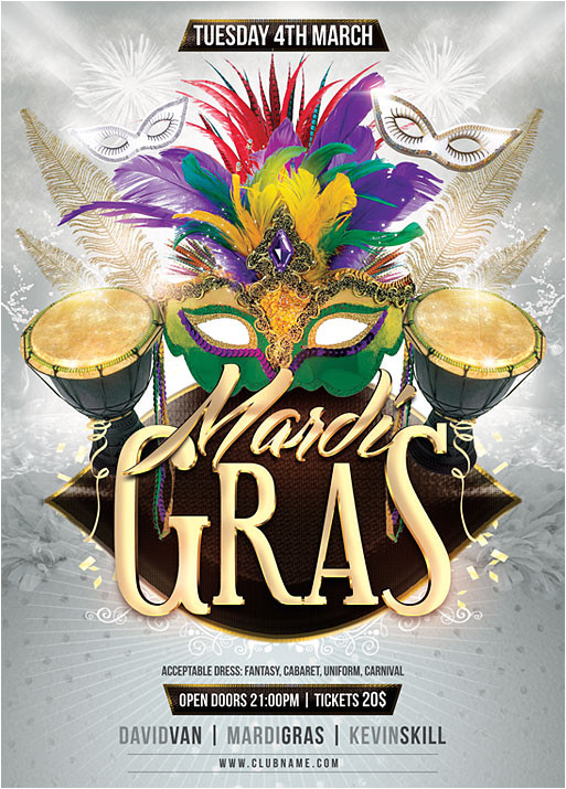 mardi gras flyer template 425944996