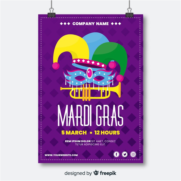 mardi gras flyer template 3865370