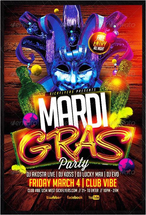 best 20 mardi gras flyer templates collection