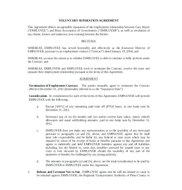 ontario separation agreement template