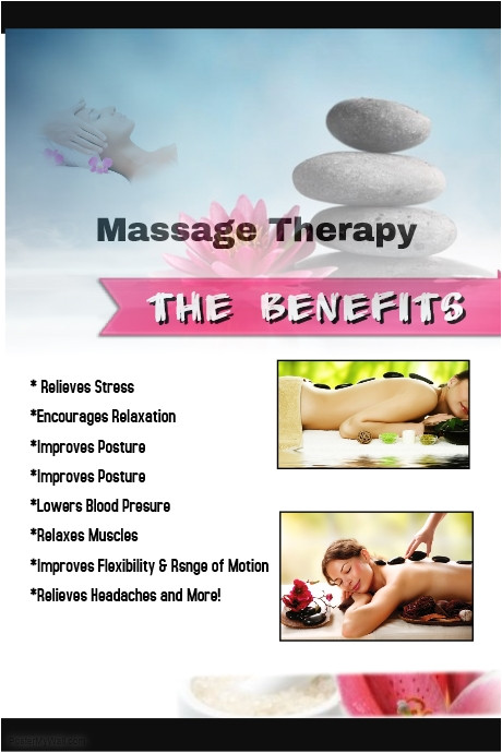 massage therapy benefits poster template