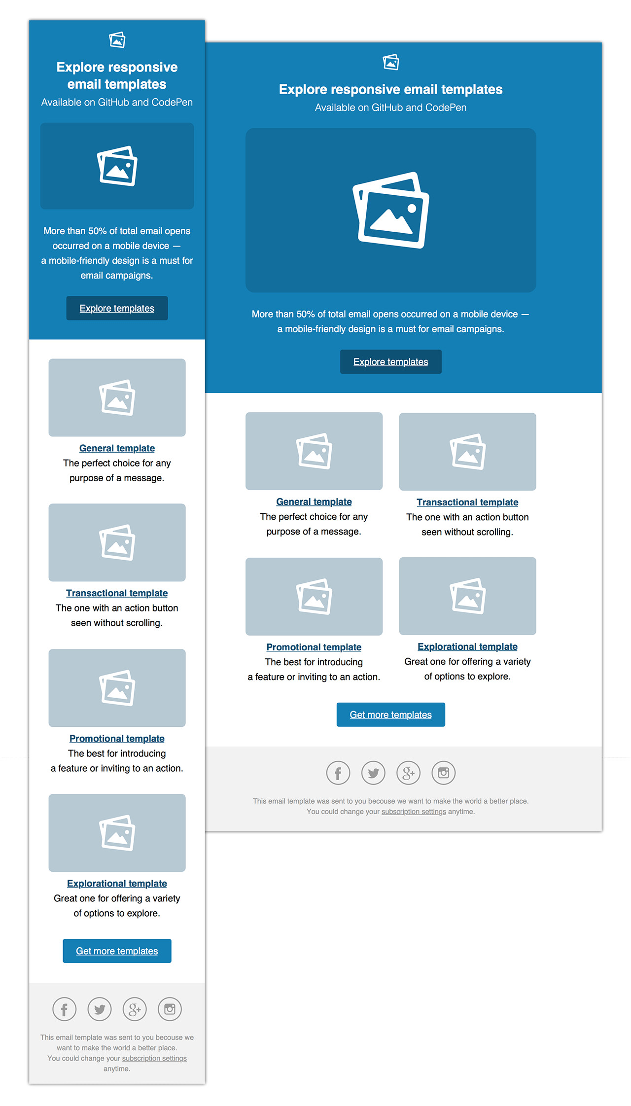 Media Query Email Template Github Konsav Email Templates Responsive HTML Email