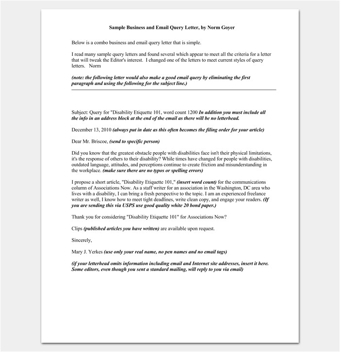 query letter template respond