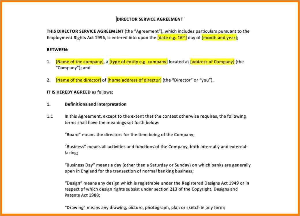 8 billing agreement template
