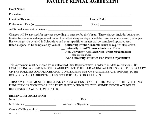 event facility rental agreement ideal medical billing contract template and event contract fo p130777