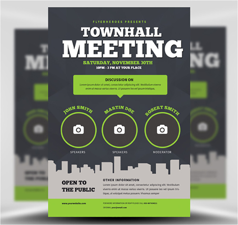 community meeting flyer template