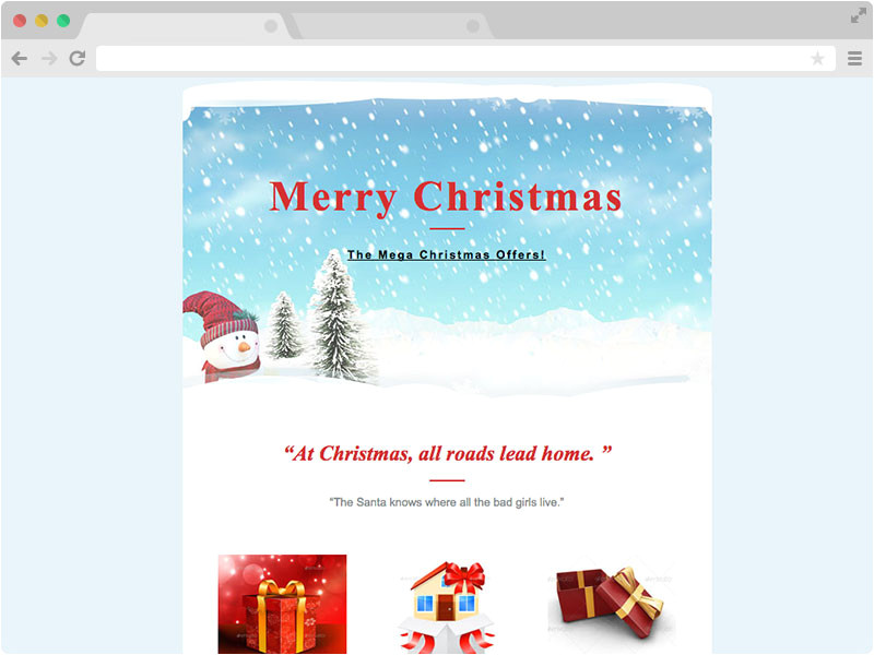 Merry Christmas Email Template to Colleagues Christmas Email Responsive Christmas Email Template