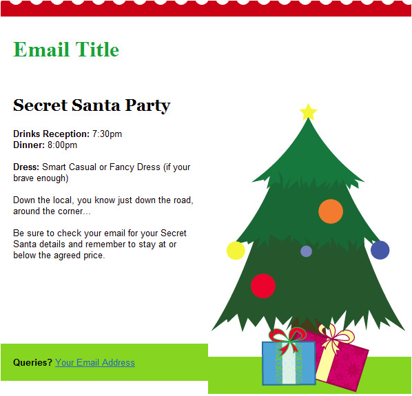 christmas email template tree
