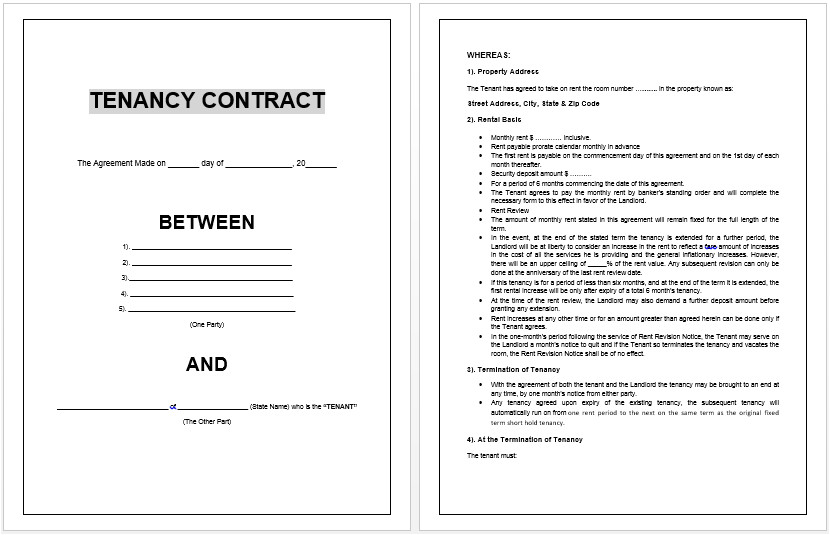 Microsoft Contract Templates Free Download Contract Templates Archives Microsoft Word Templates