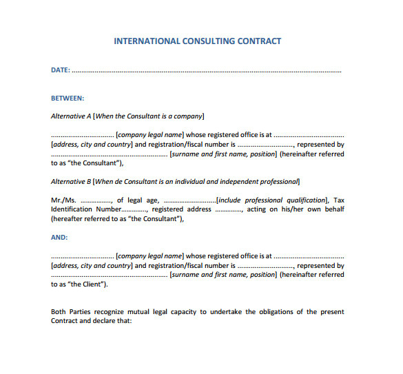 microsoft contract templates free download