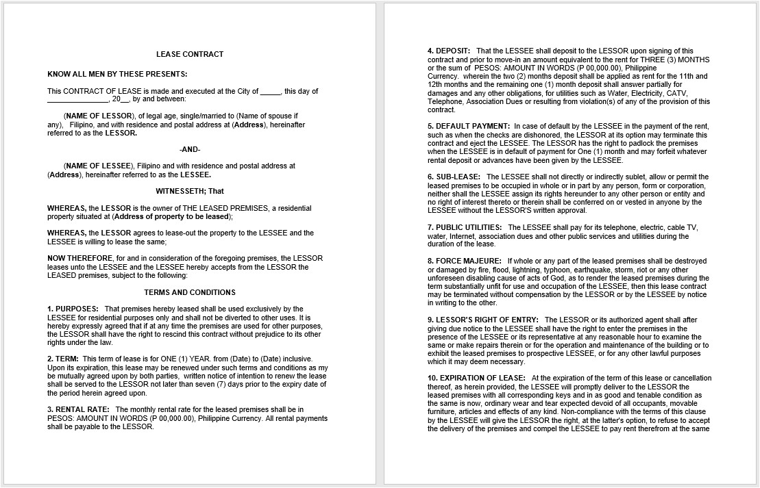 Microsoft Office Contract Templates 19 Free Rental Agreement Templates Microsoft Office