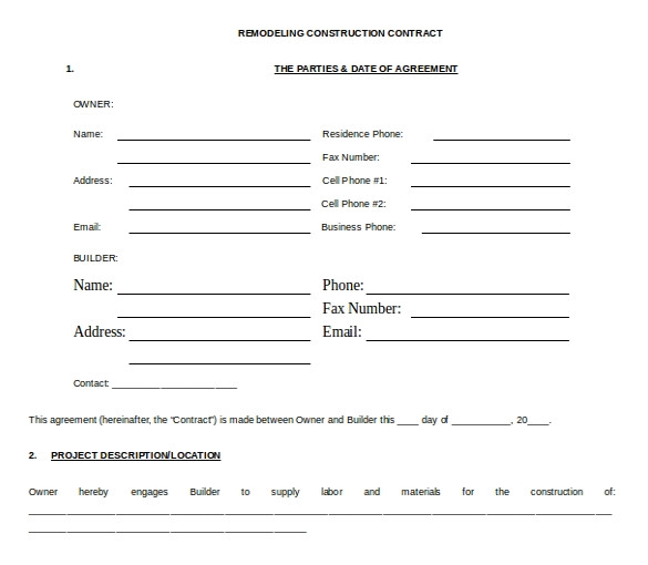 Microsoft Word Contract Template 23 Sample Contract Templates Word Docs Pages Free