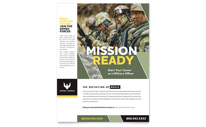 military flyer template design go0051501