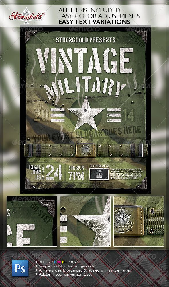 Military Flyer Template Vintage Military Armed forces Flyer Template Armed