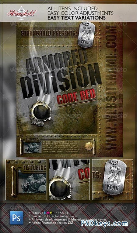 262 vintage military armored flyer template 2730928