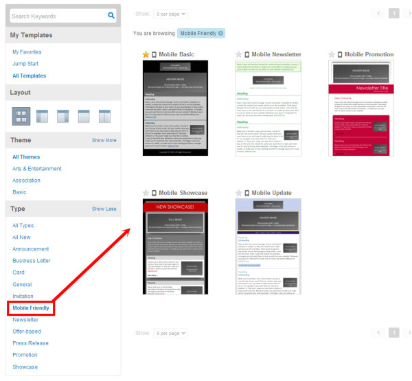 mobile friendly email templates
