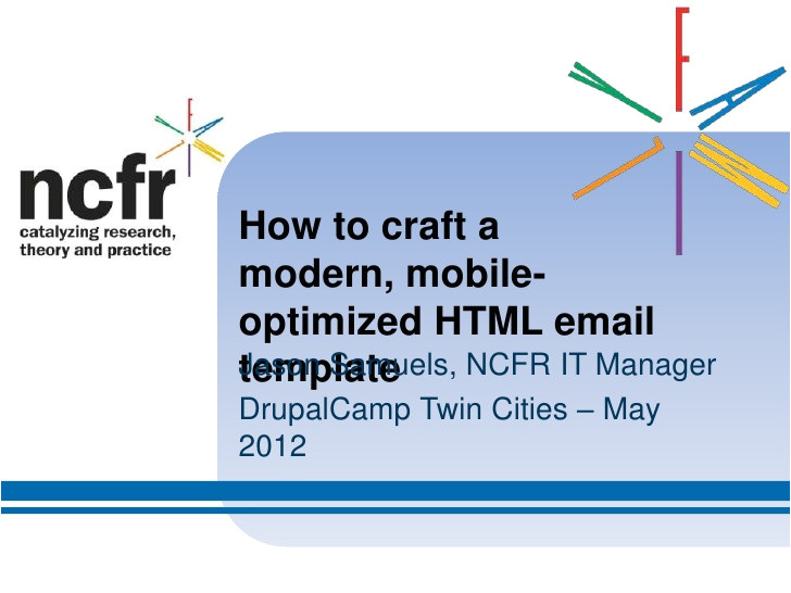 how to craft a modern mobileoptimized html email template