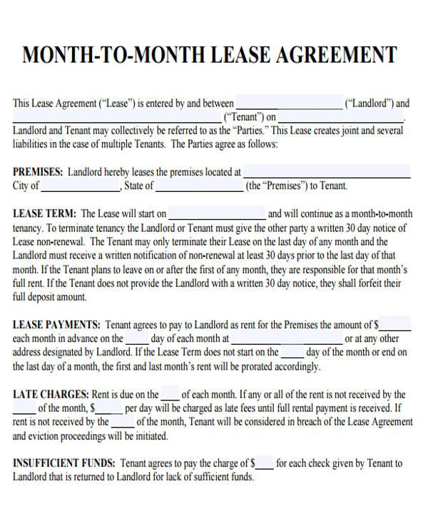 sample roommate rental agreement form