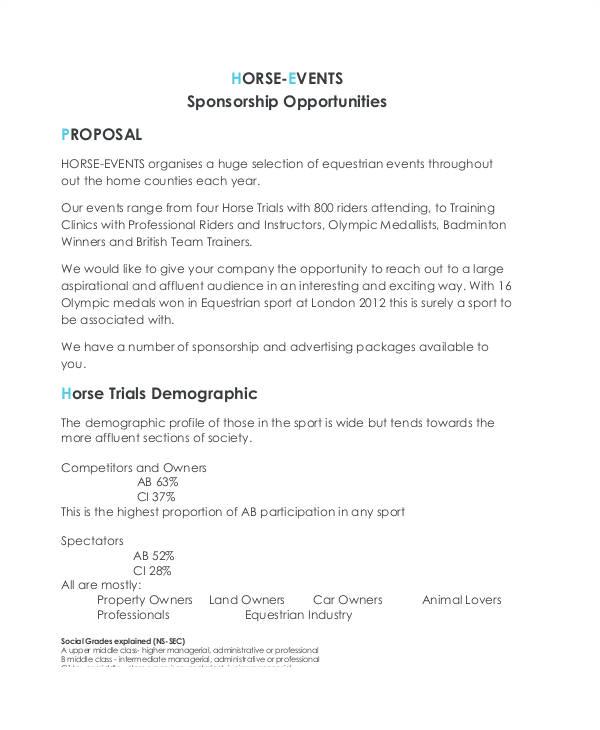 Motorsport Sponsorship Contract Template 47 Sponsorship Proposal Examples Samples Pdf Word
