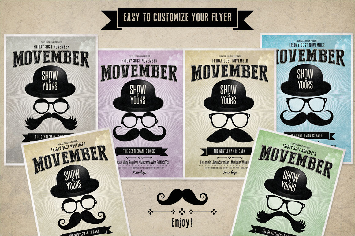 92279 movember flyer template