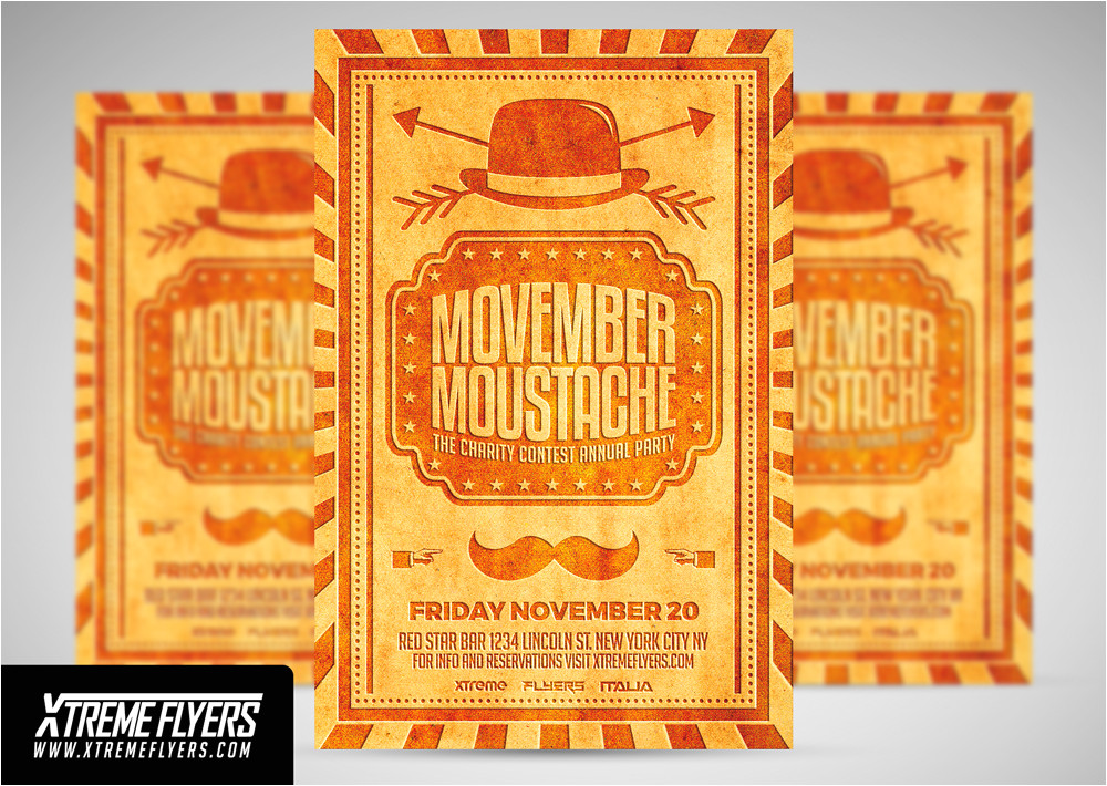 416814 movember moustache flyer