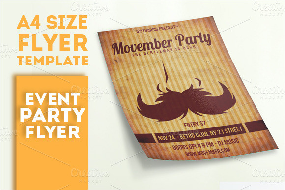 15699 movember party flyer template