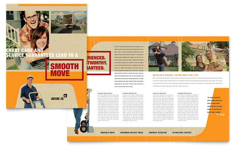 movers moving company brochure templates gb0770101d