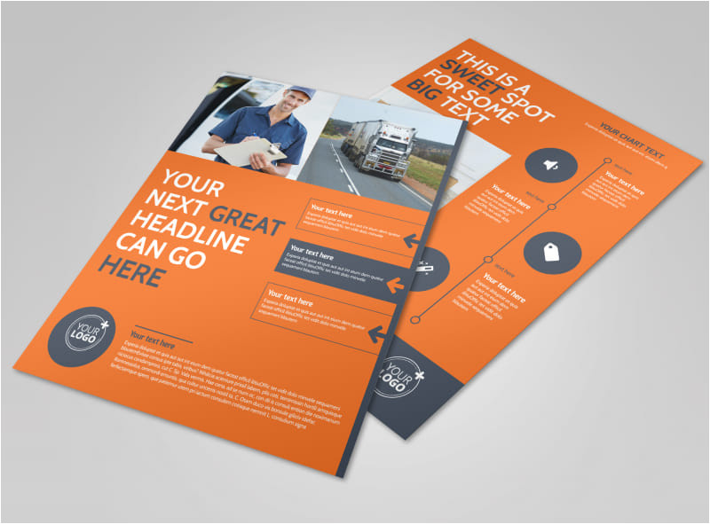 moving company flyer template
