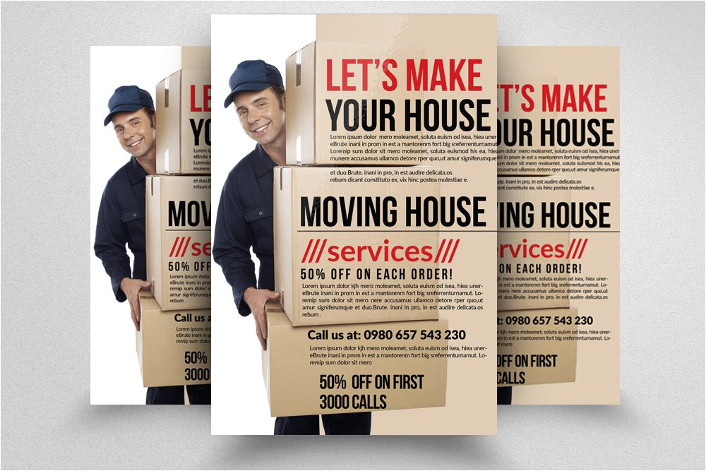 624671 moving house services flyers
