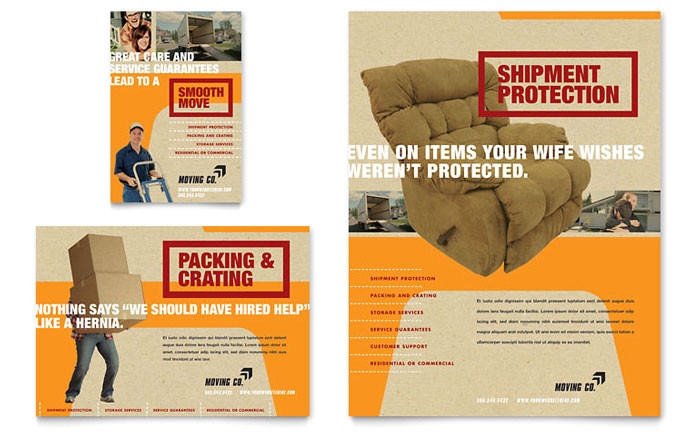 movers moving company flyer ad template design gb0770701