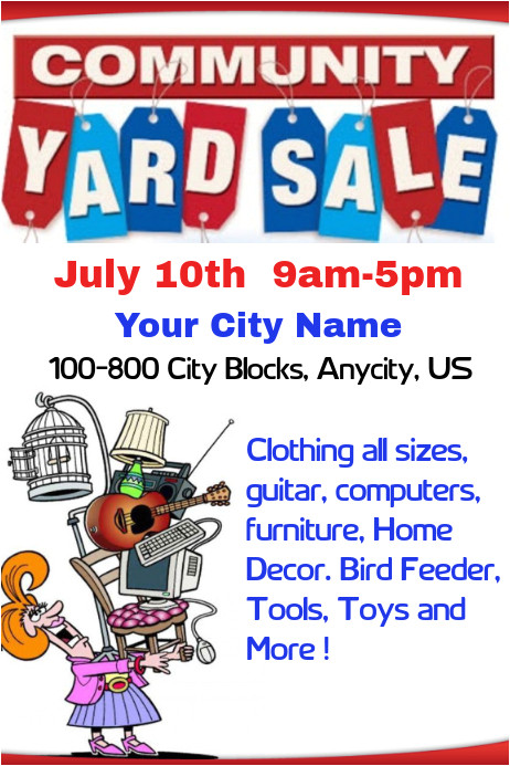 community yard sale poster template