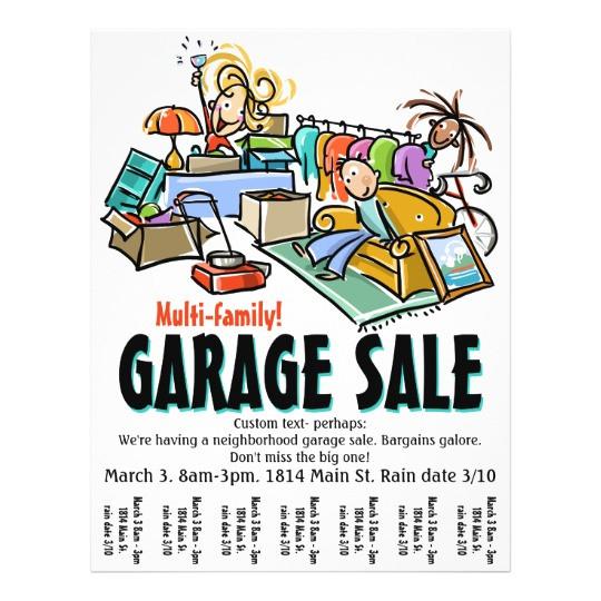 garage sale moving sale yard sale custom flyer 244359587244514795