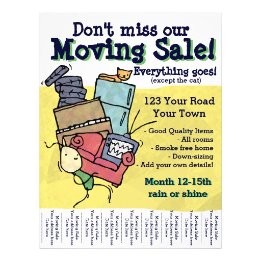 moving sale customizable flyer 244694102914084706