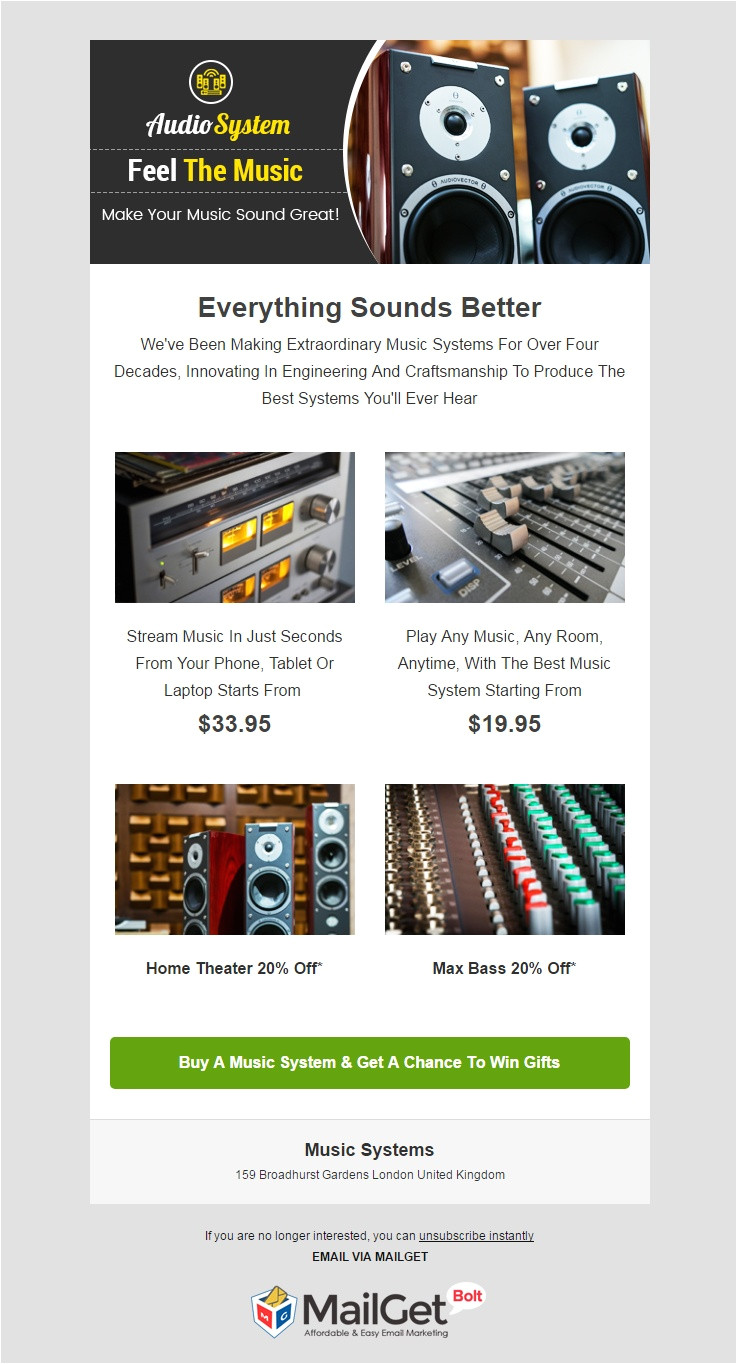 best music email templates