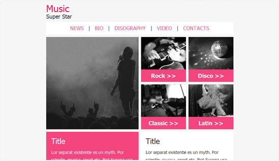 music email newsletter templates