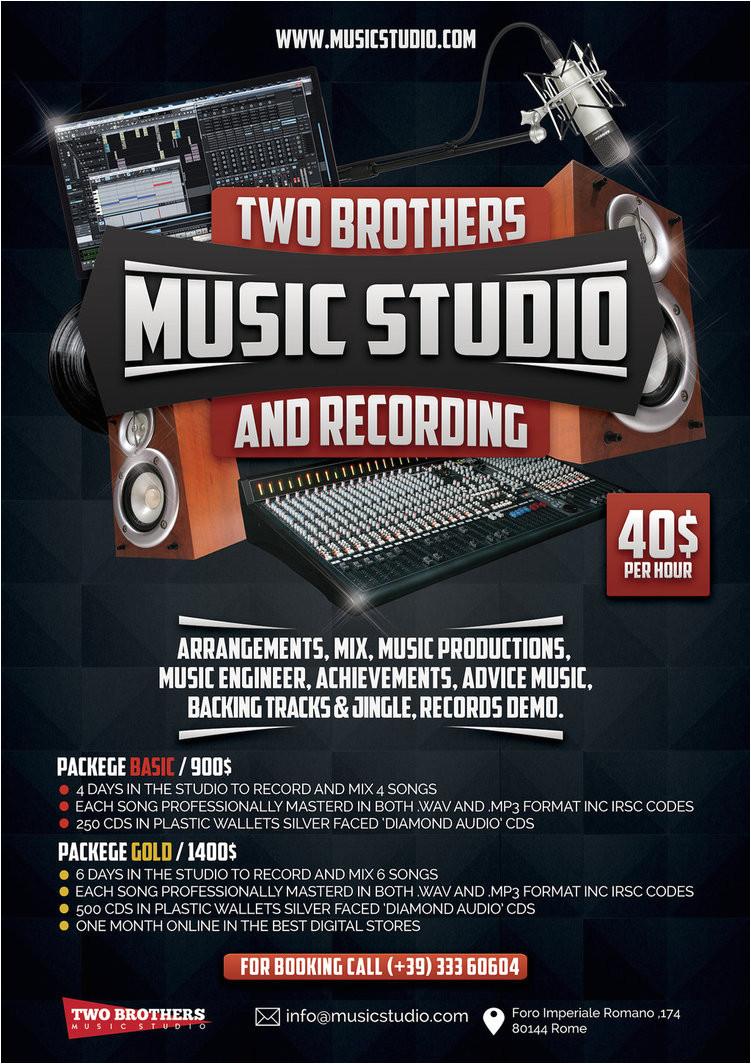 music recording studio 3 flyer poster 583830560