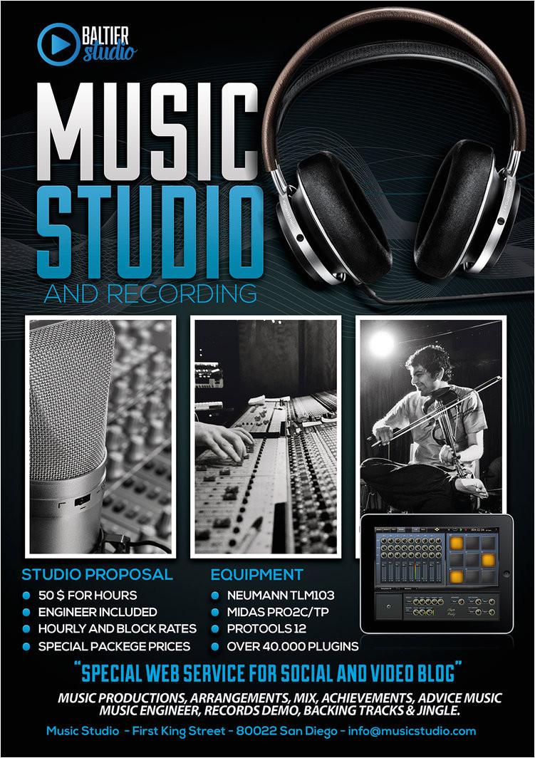 music studio 4 flyer poster 656248702