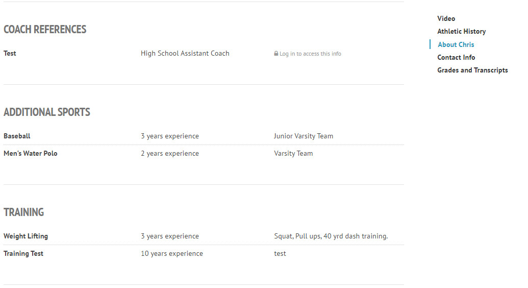 sample athletic resumes template
