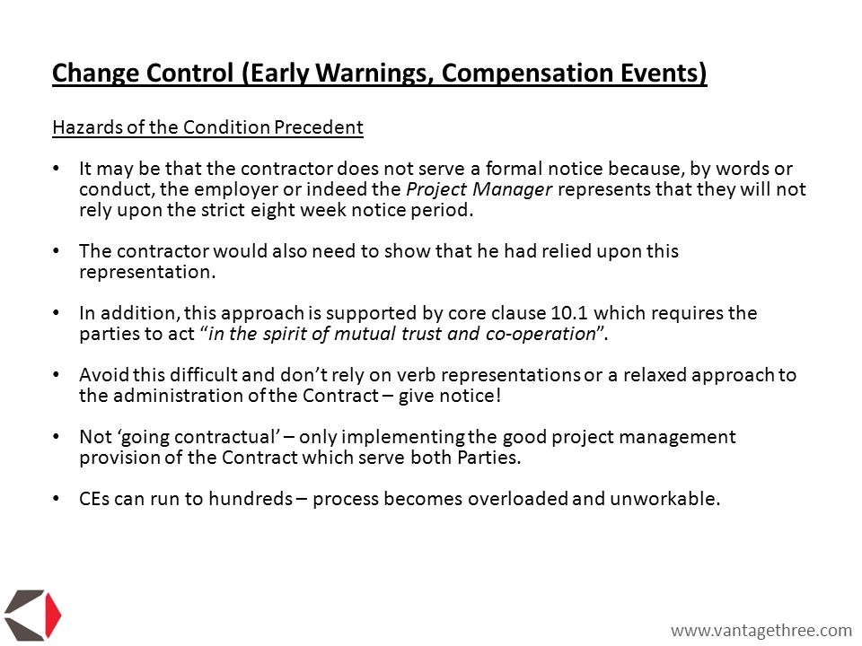 Nec Contract Templates Nec Contract Early Warning Notice Template