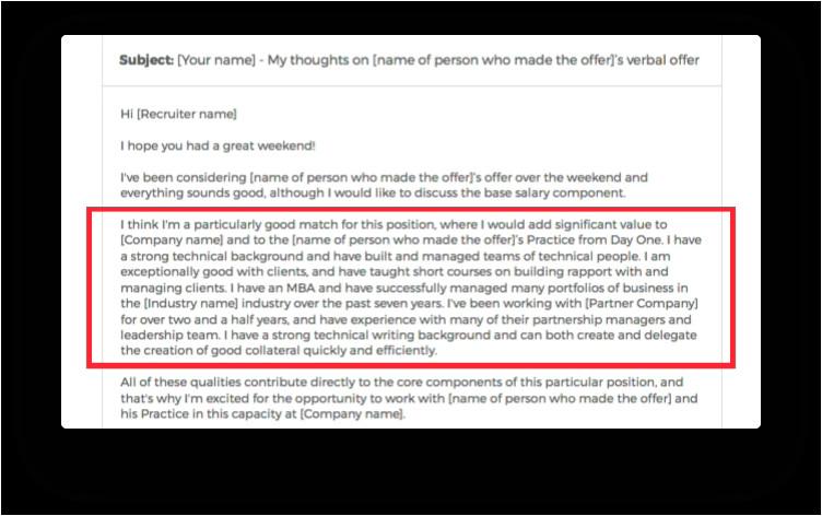 exemple d'e-mail pour les négociations salariales