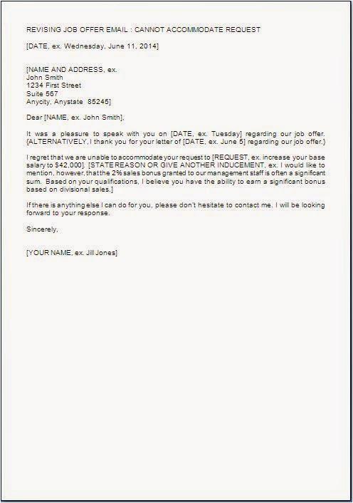 une lettre rejetant les négociations salariales
