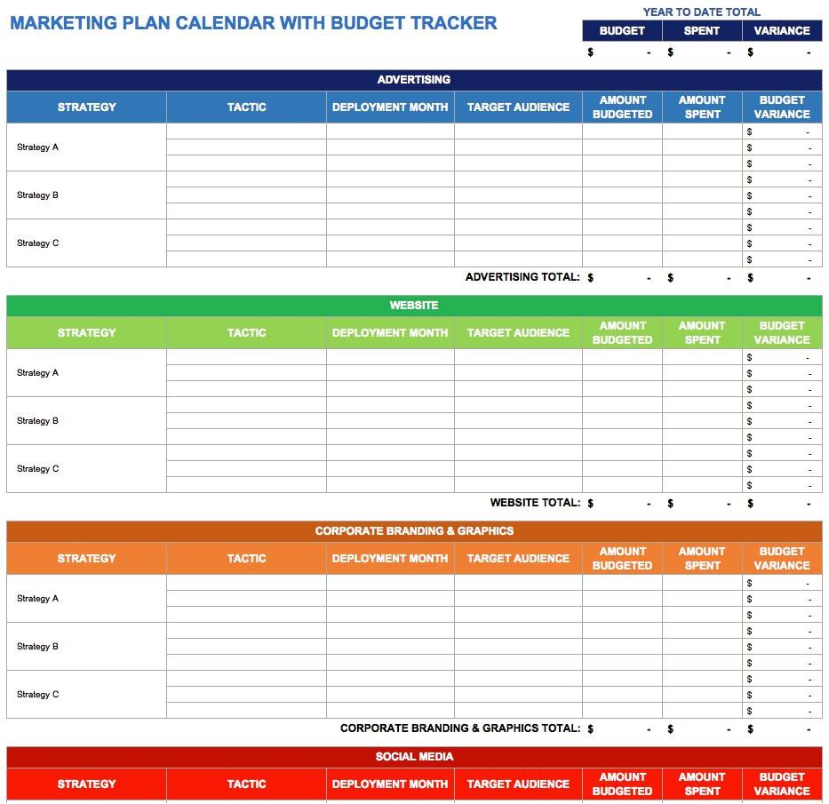 9 free marketing calendar templates excel