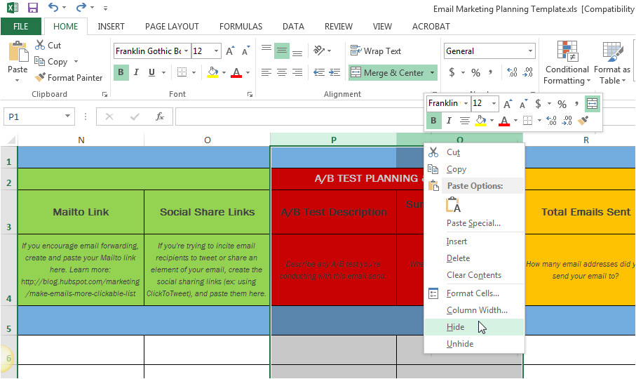 plan email marketing campaigns free template
