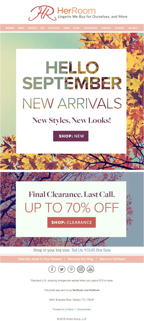 seasonal email template