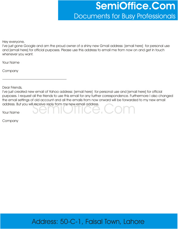 new email address change notification letter